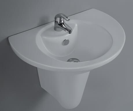Basin with Half Pedestal